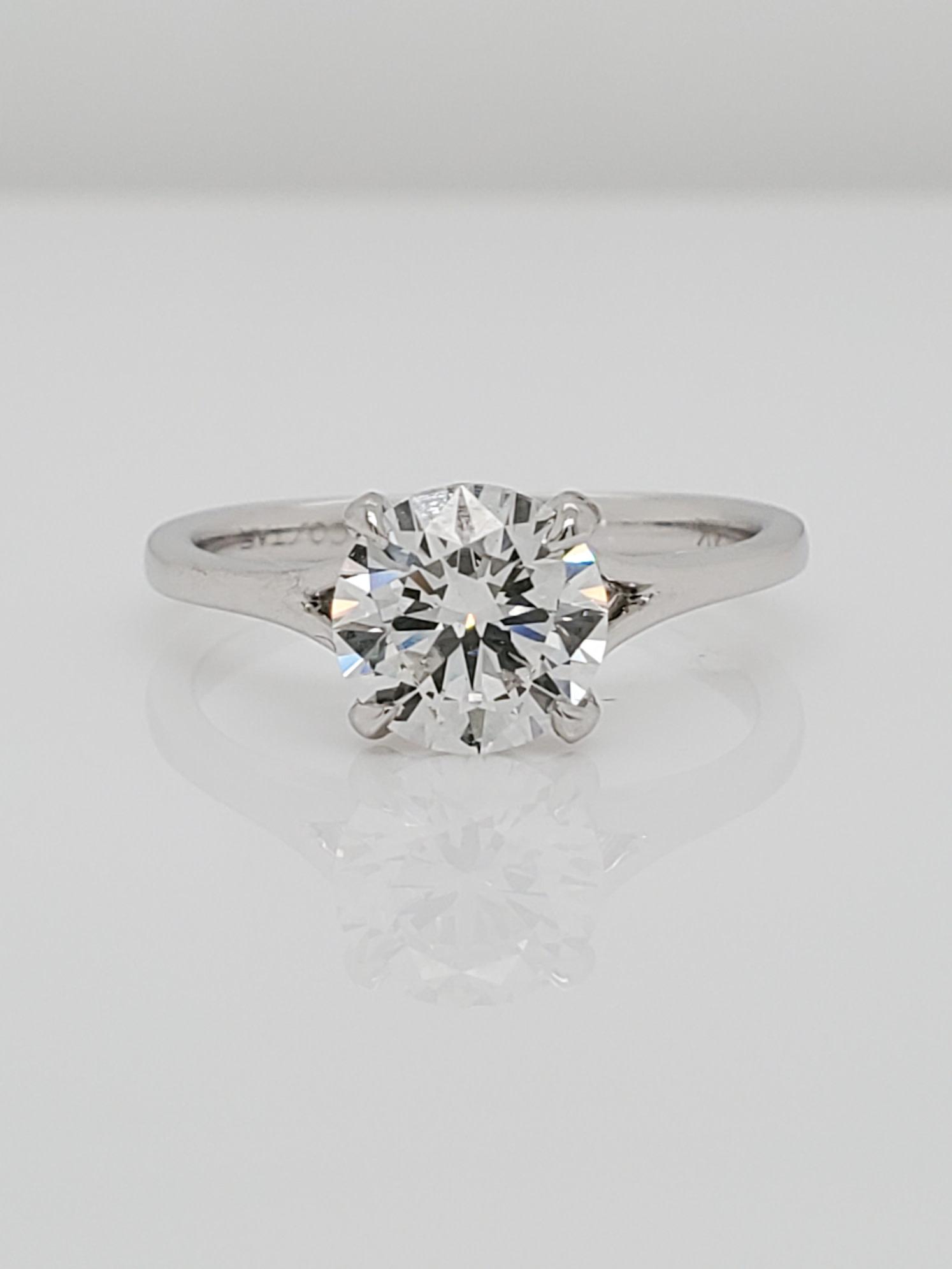 14 KT White Gold 1.03 G/VS1 Lab Grown Diamond Engagement Ring