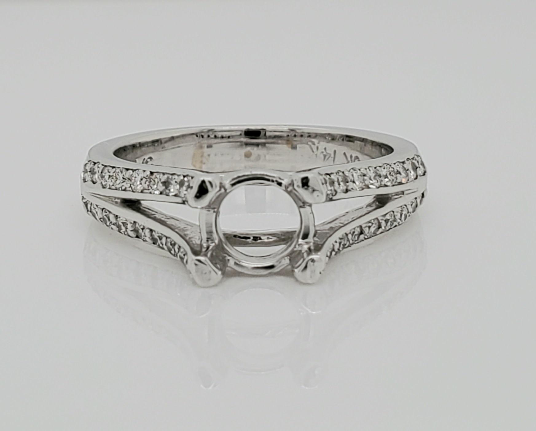 14KT WG Dia Engagement Ring Setting 0.36 CTW