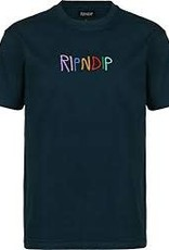 Ripndip Embroidered Logo T NVY LG