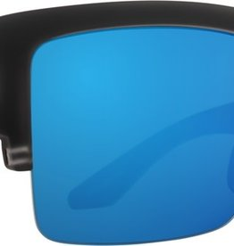 SPY Cyrus 5050 matte black ice hpy. gry grn with bluue spectra mirror