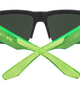 SPY Cyrus 5050 sft matte black translucent green