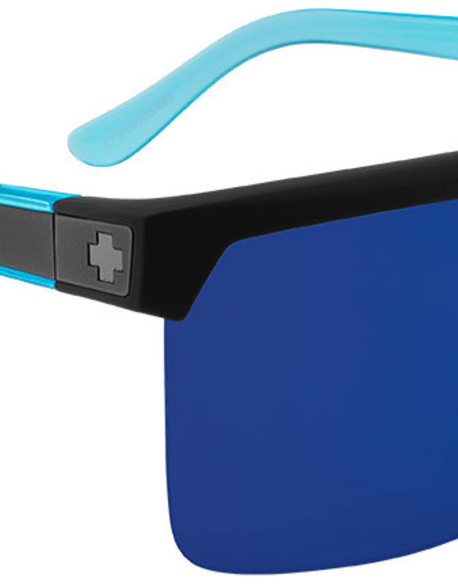 SPY Flynn 5050soft matte blk translucent blue hdplus