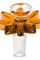 Red Eye Glass 156Y 14mm honey gold big leaf