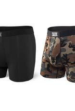 Saxx Saxx Vibe Boxer Brief 2PK Black/Wood Camo