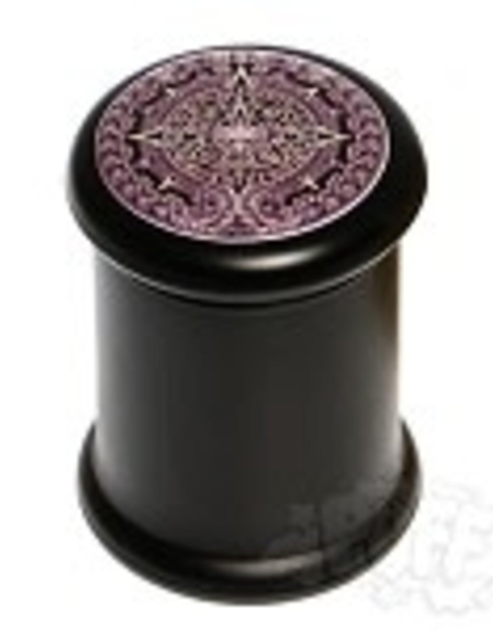DJAR-B11 Black Glass Pop Top Jar. DJAR-B11