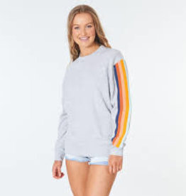RIPCURL Golden Days Retro Crew Light Gray Heather