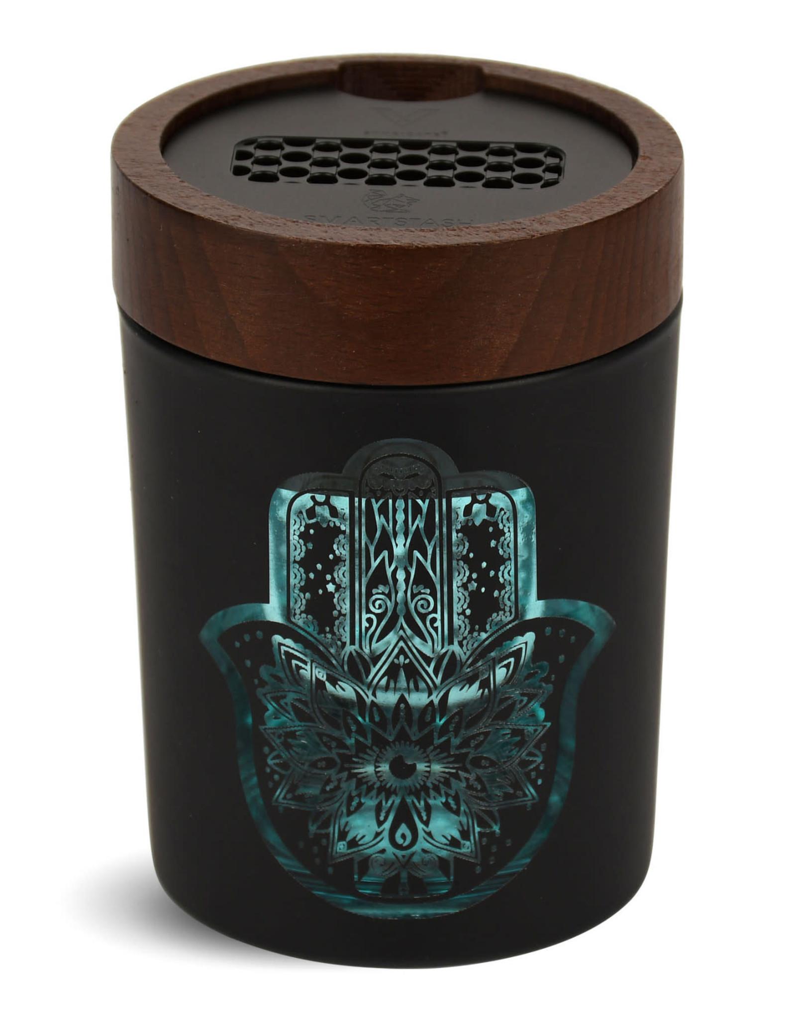 V-Syndicate JAR809 Large Hamsa turquoise smart Stash Jar