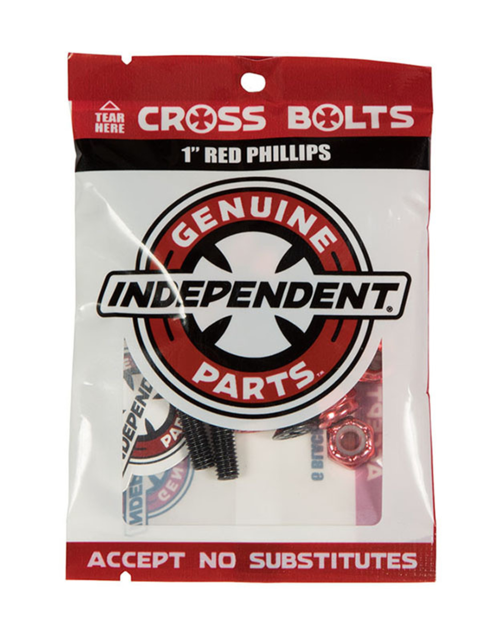 Independent HARDWARE PHILLIPS 1 IN BLK/RED