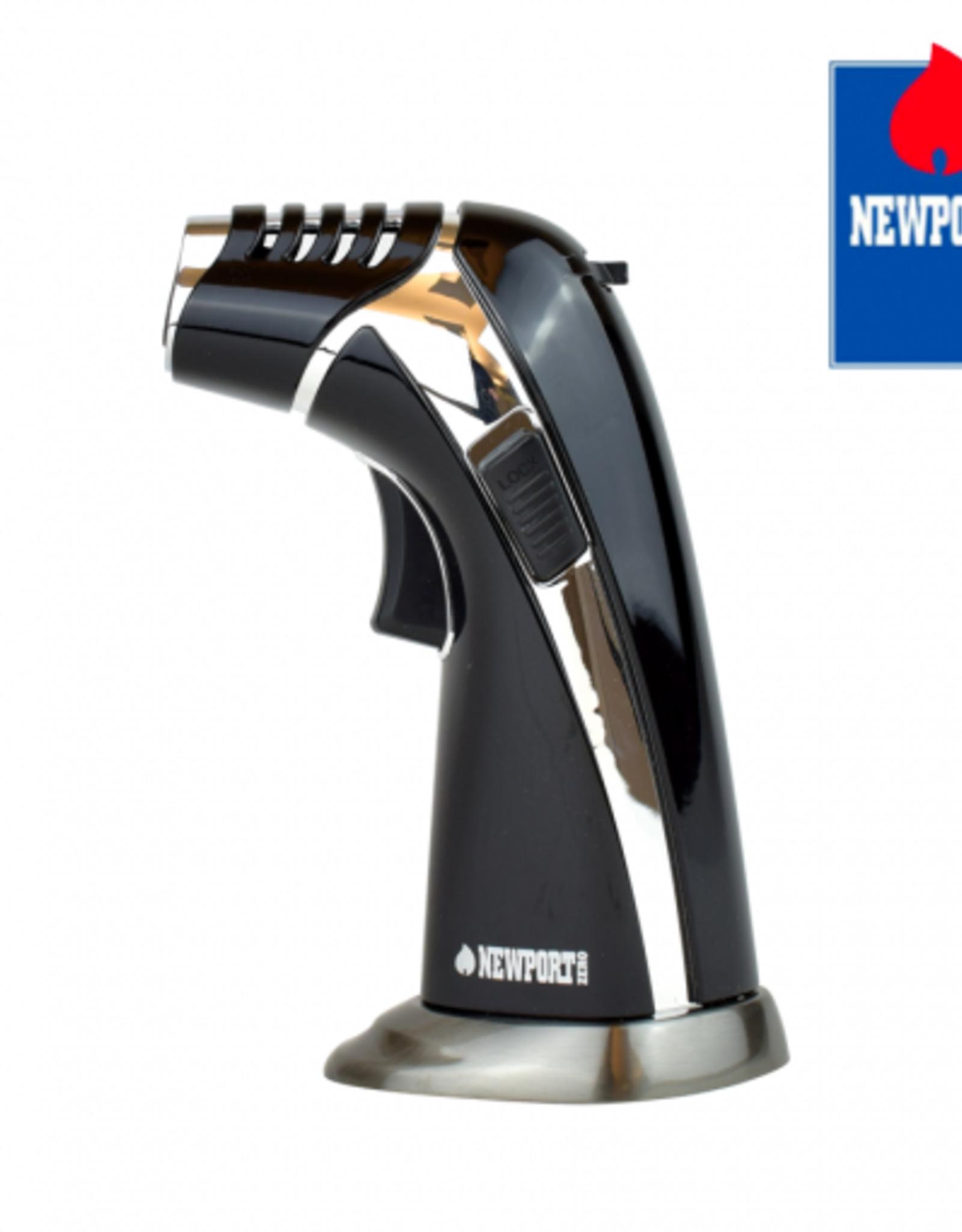 "newport NewPort 6"" Black/Gold Triple Flame"