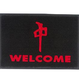 RDS DOOR MAT WELCOME 27x18in BLACK/RED
