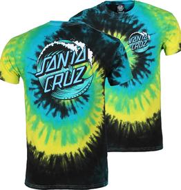 Santa Cruz T-SHIRT WAVE DOT TROPICAL BREEZE MED