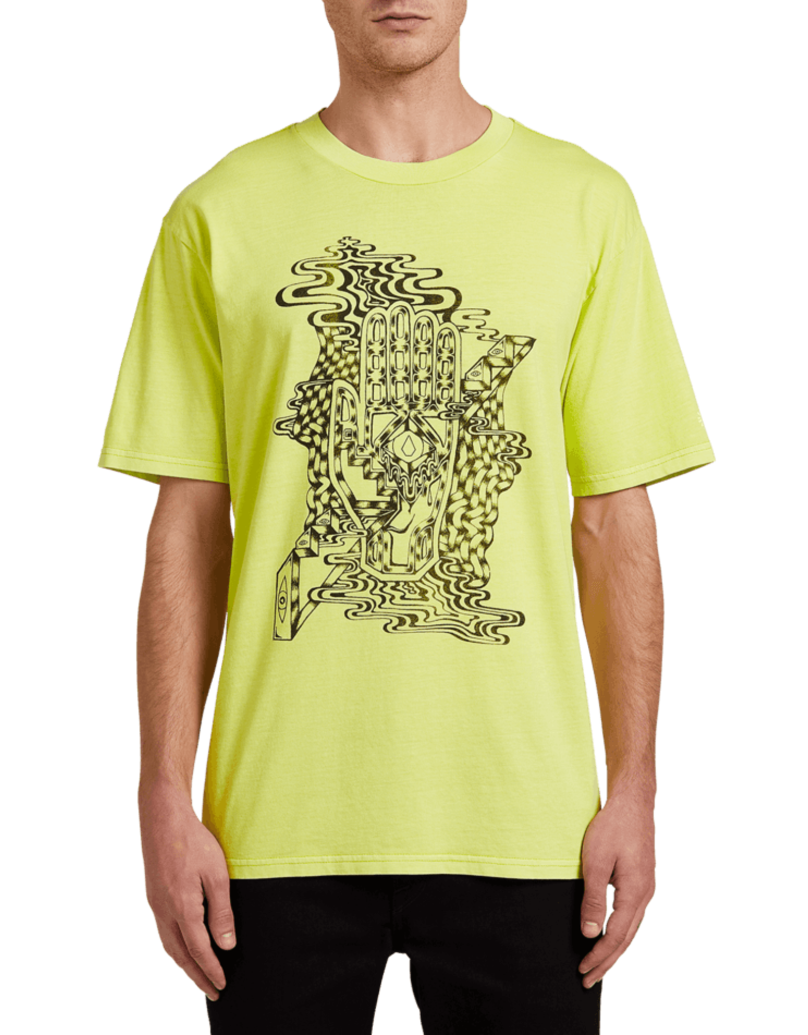 Volcom CLAIRVOYANT S/S TEE HILIGHTER GREEN S