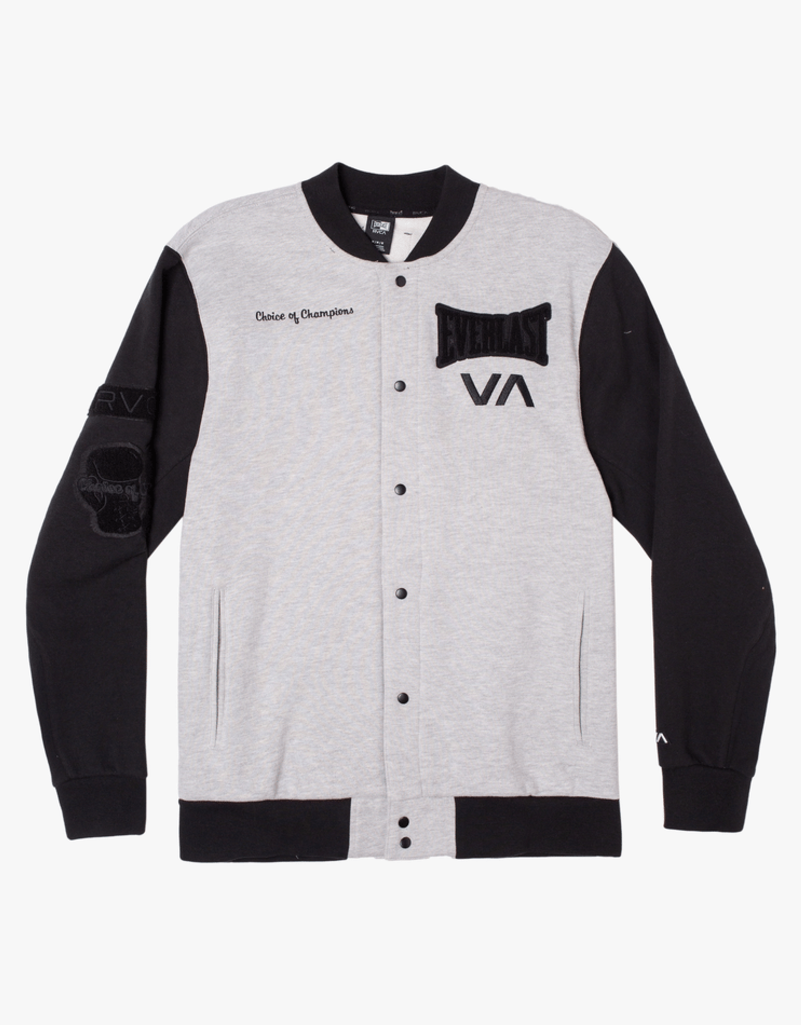 RVCA EVERLAST STADIUM JACKET HEATHER GREY L