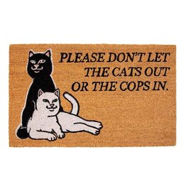 Ripndip DOOR MAT DONT LET THE COPS IN