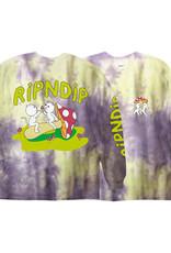 Ripndip L/S T-SHIRT SHARING IS CARING NEON/LAVENDER TD LRG