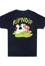Ripndip T-SHIRT SHARING IS CARING BLACK MINERAL WASH MED