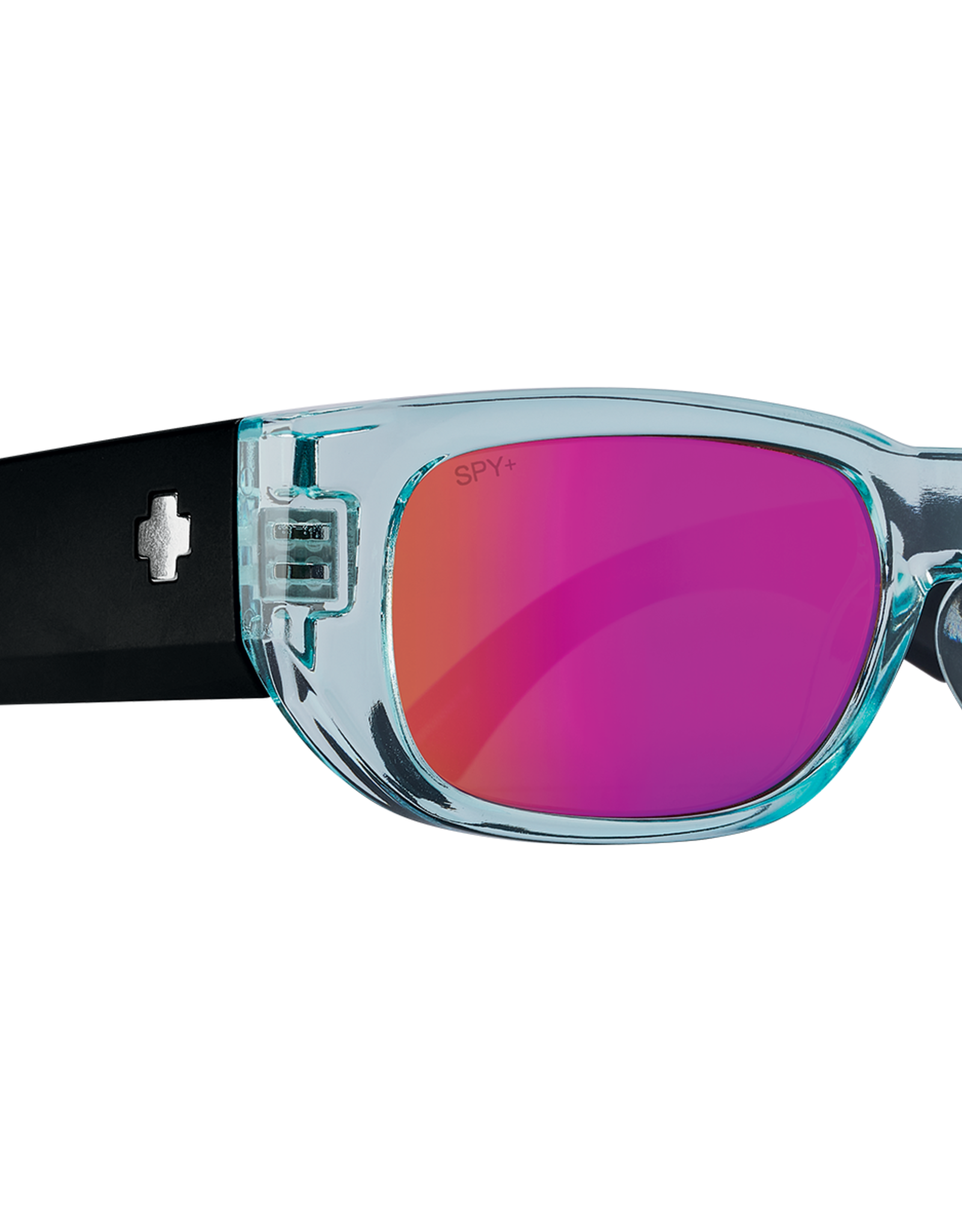 SPY GENRE TRANS AQUA AND MATTE BLACK/ HAPPY GRAY WITH PURPLE SPECT
