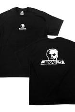 Skull Skates T-SHIRT SKULL LOGO BLACK LRG