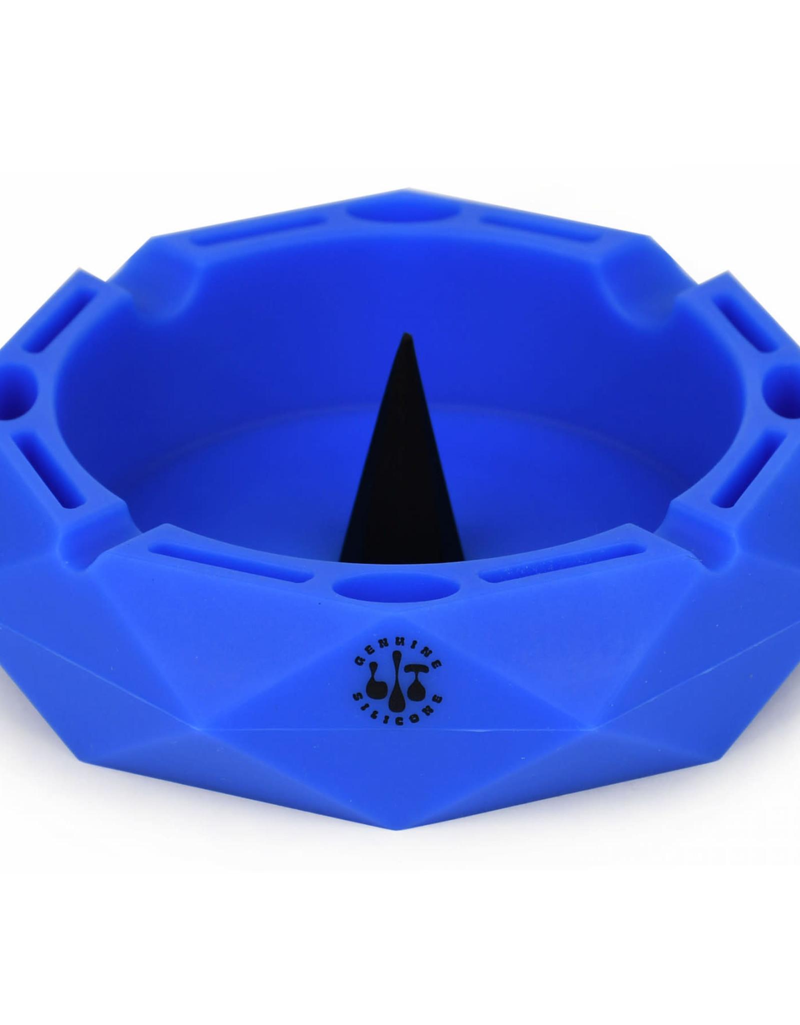 "ts64 5"" BLUE ROUND ASHTRAY W/ DEBOWLER"