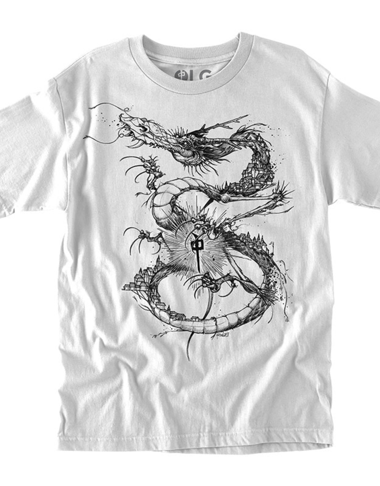 RDS RDS T-SHIRT SCENT DRAGON WHITE
