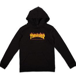Thrasher YOUTH FLAME LOGO HOOD BLACK