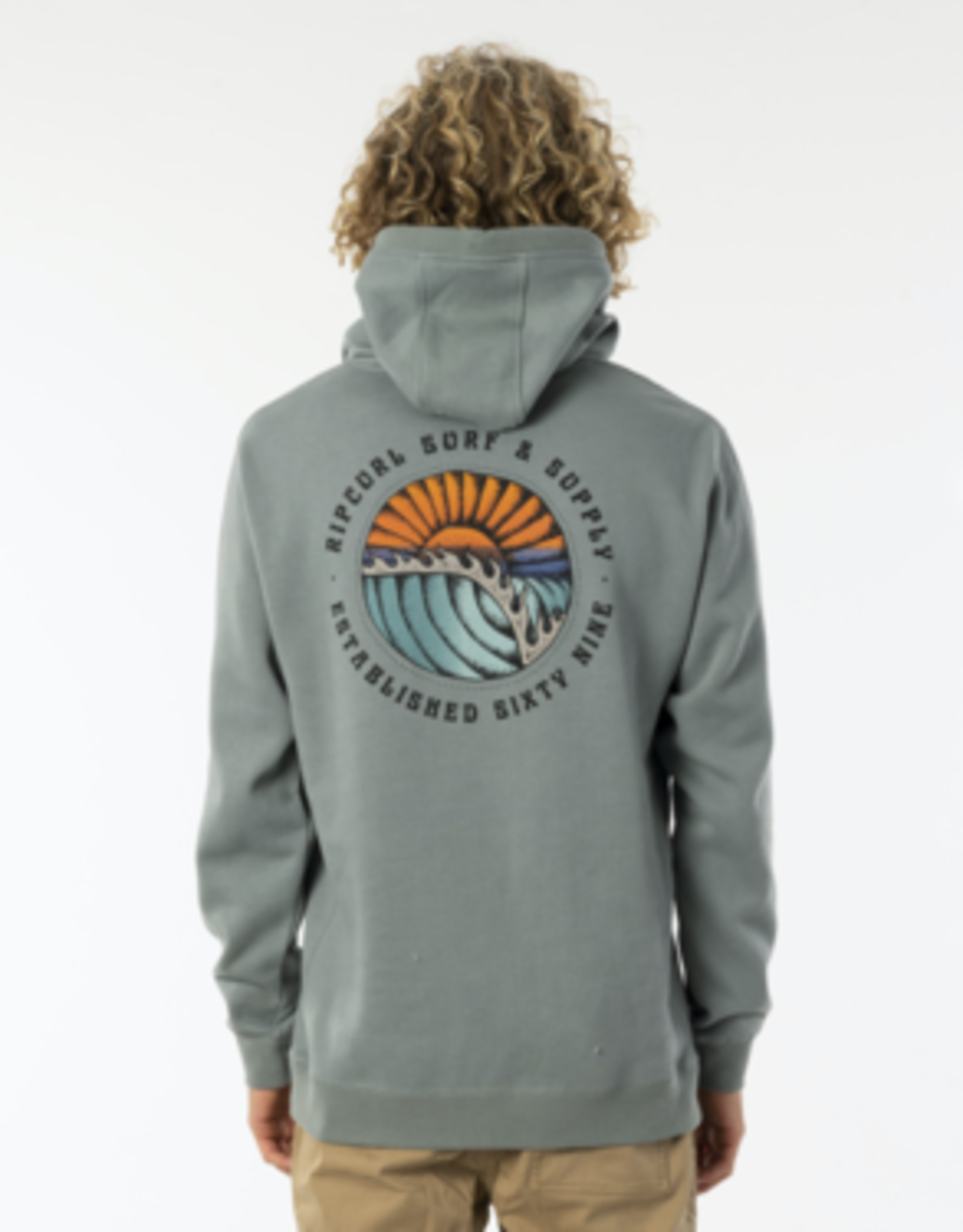 RIPCURL RC SUNSET HOODY MINERAL GREEN