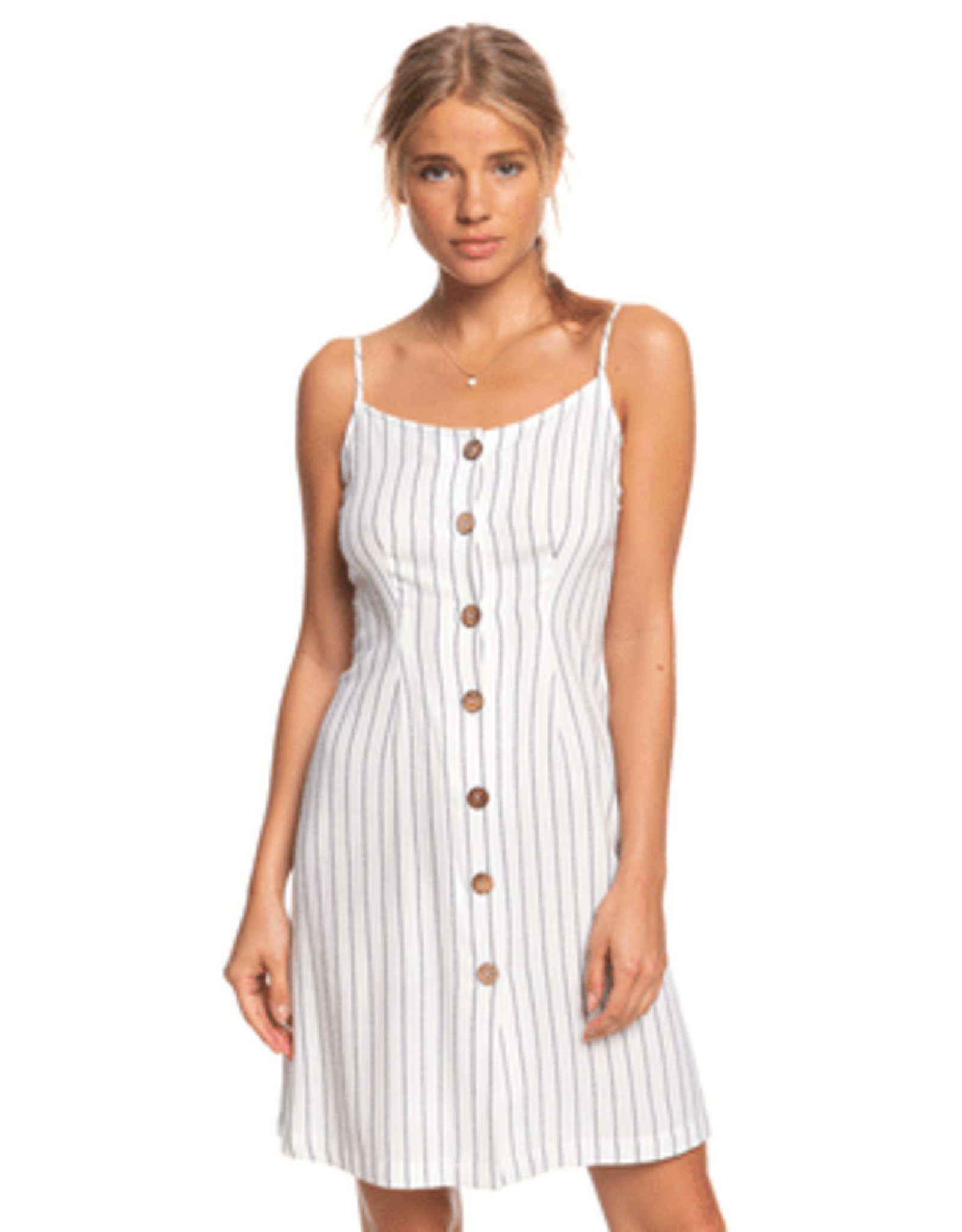 Roxy ROXY SWEET ABOUT ME DRESS WHITE STRIPE