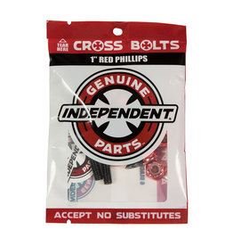 Independent INDY HARDWARE PHILIPS 1 INCH BLK/RED