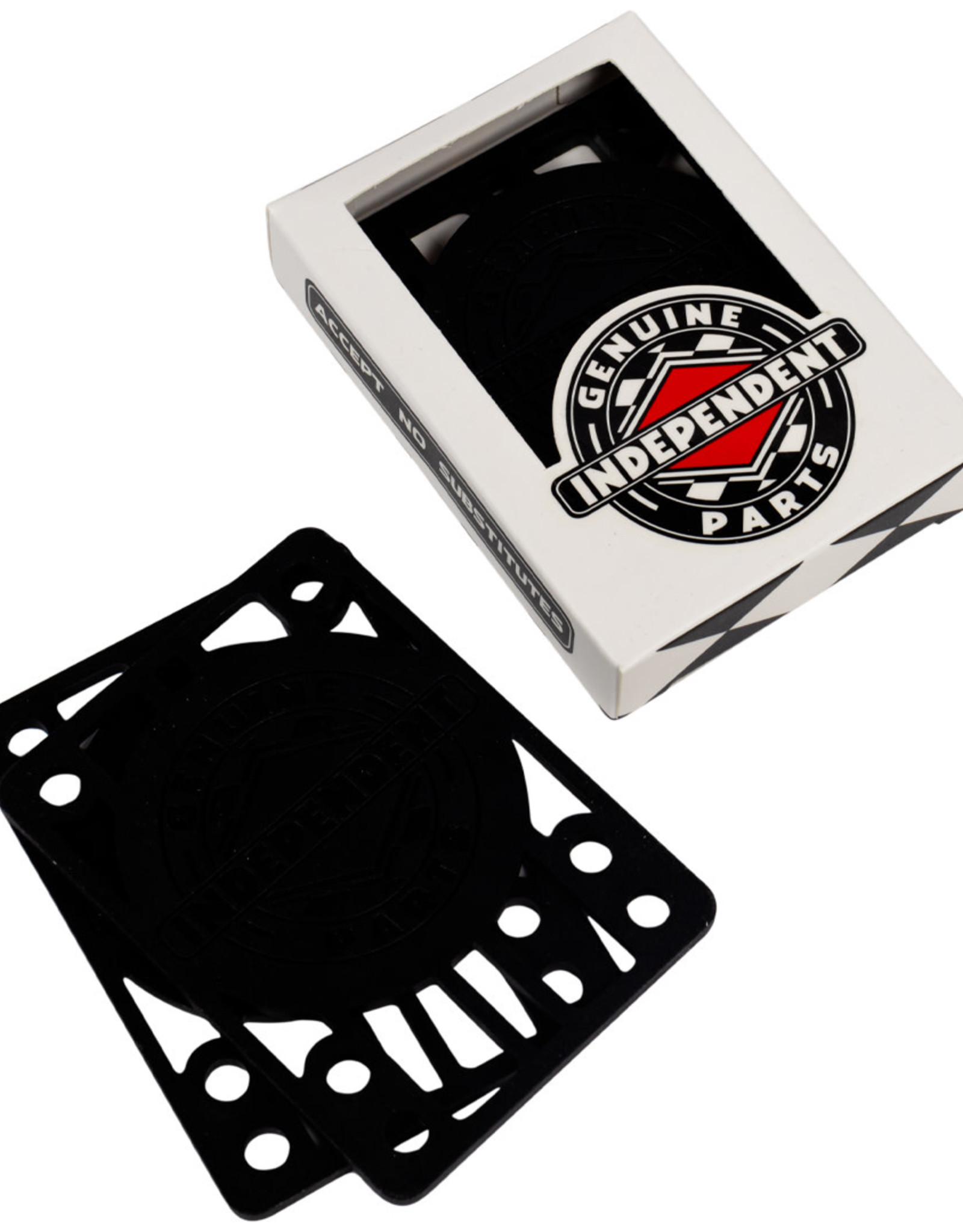 Independent INDY 1/4 INCH RISERS BLK