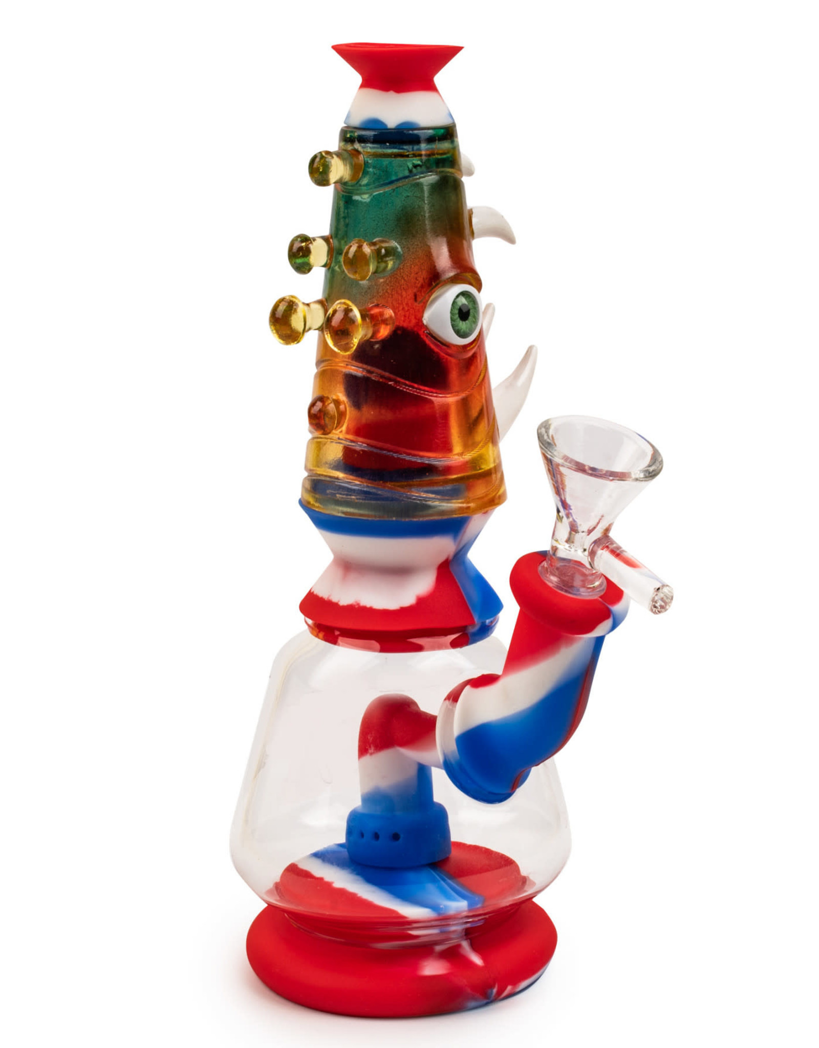 """LIT TS174 7"""" Monster Bubbler Red/White/Blue"""