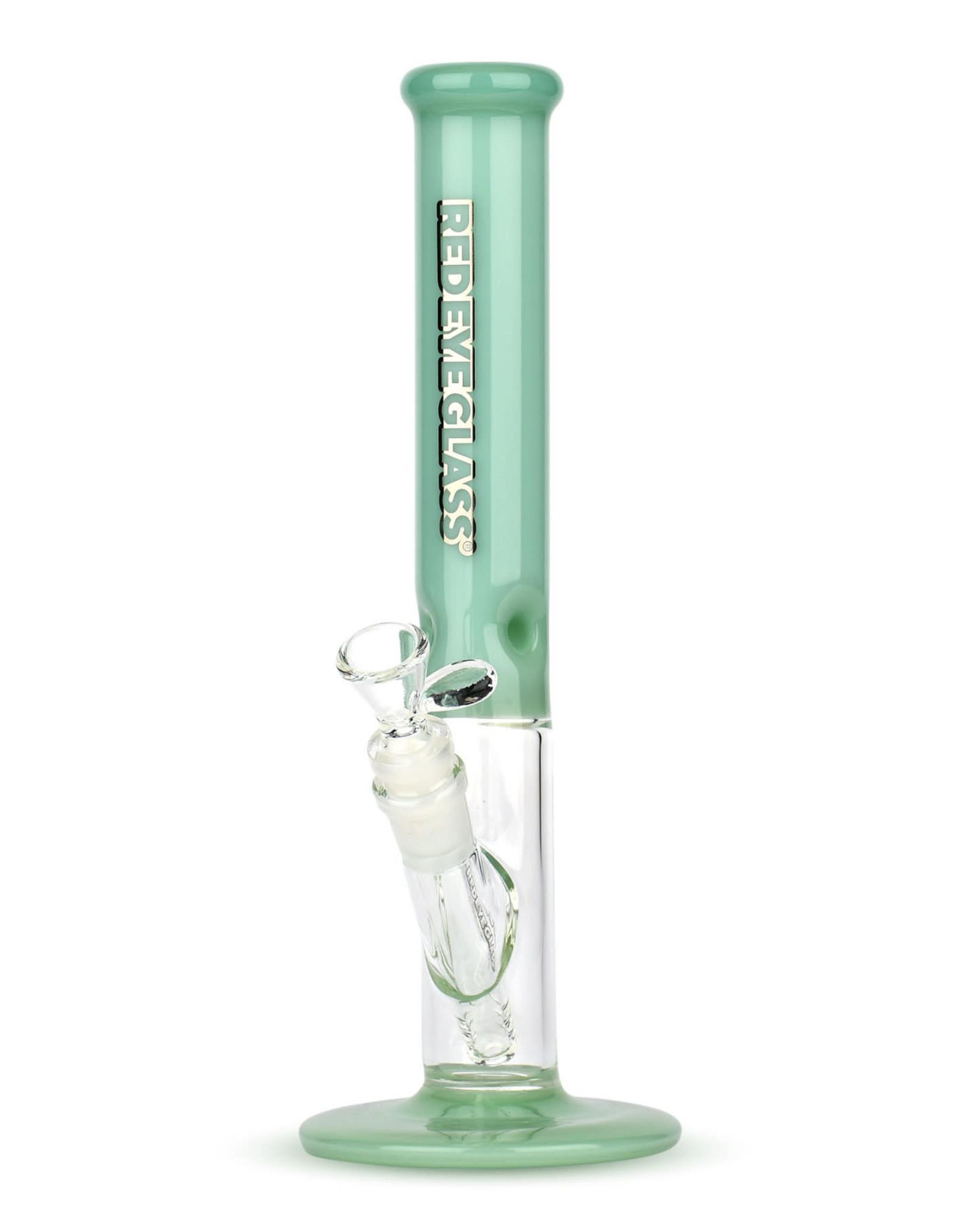 """Red Eye Glass REG032 11.5"""" Frontside Straight Tube Jade Green"""