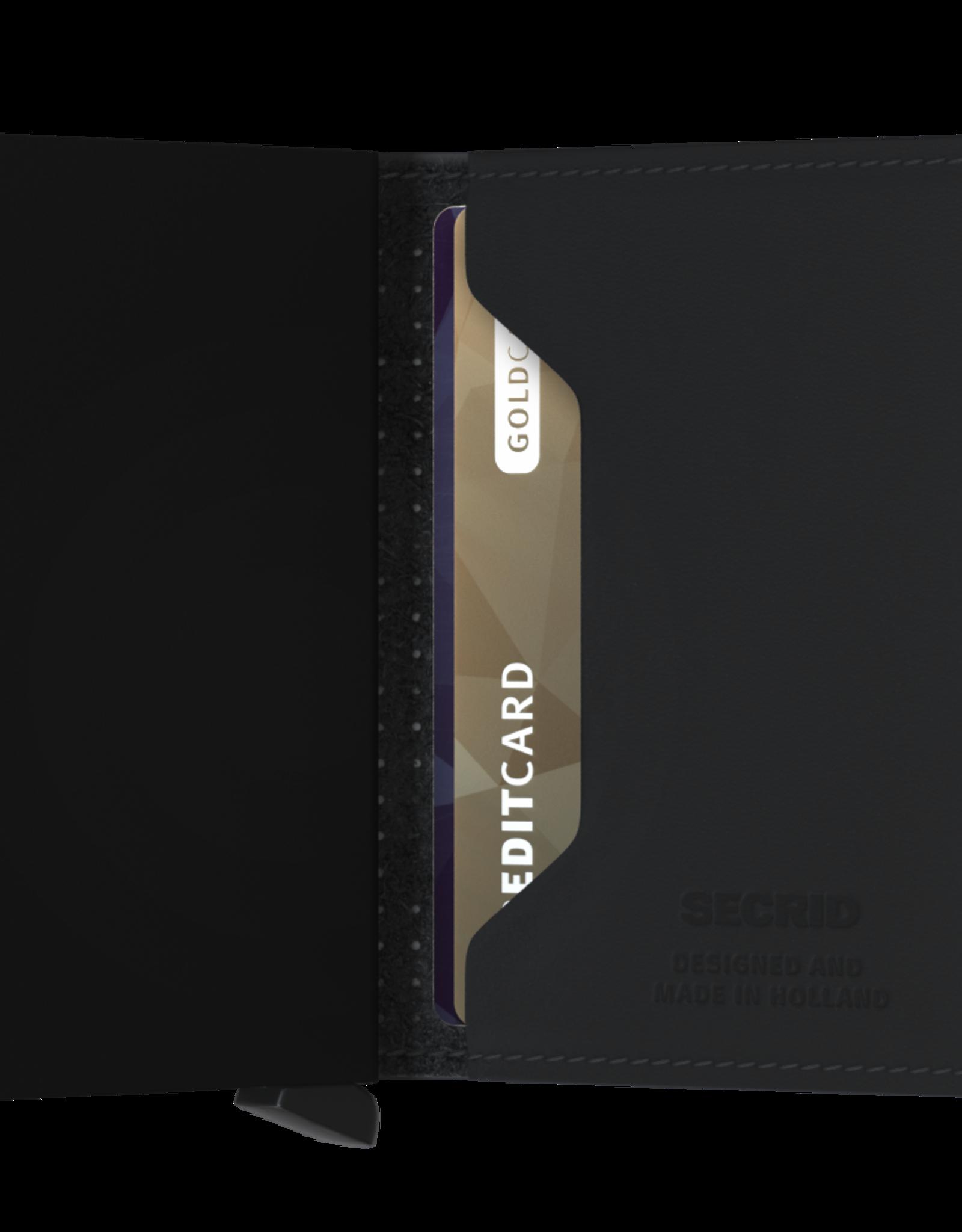 Secrid Slimwallet Perforated Black