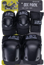 187 187 Junior six pack pad set BLK-YOUTH