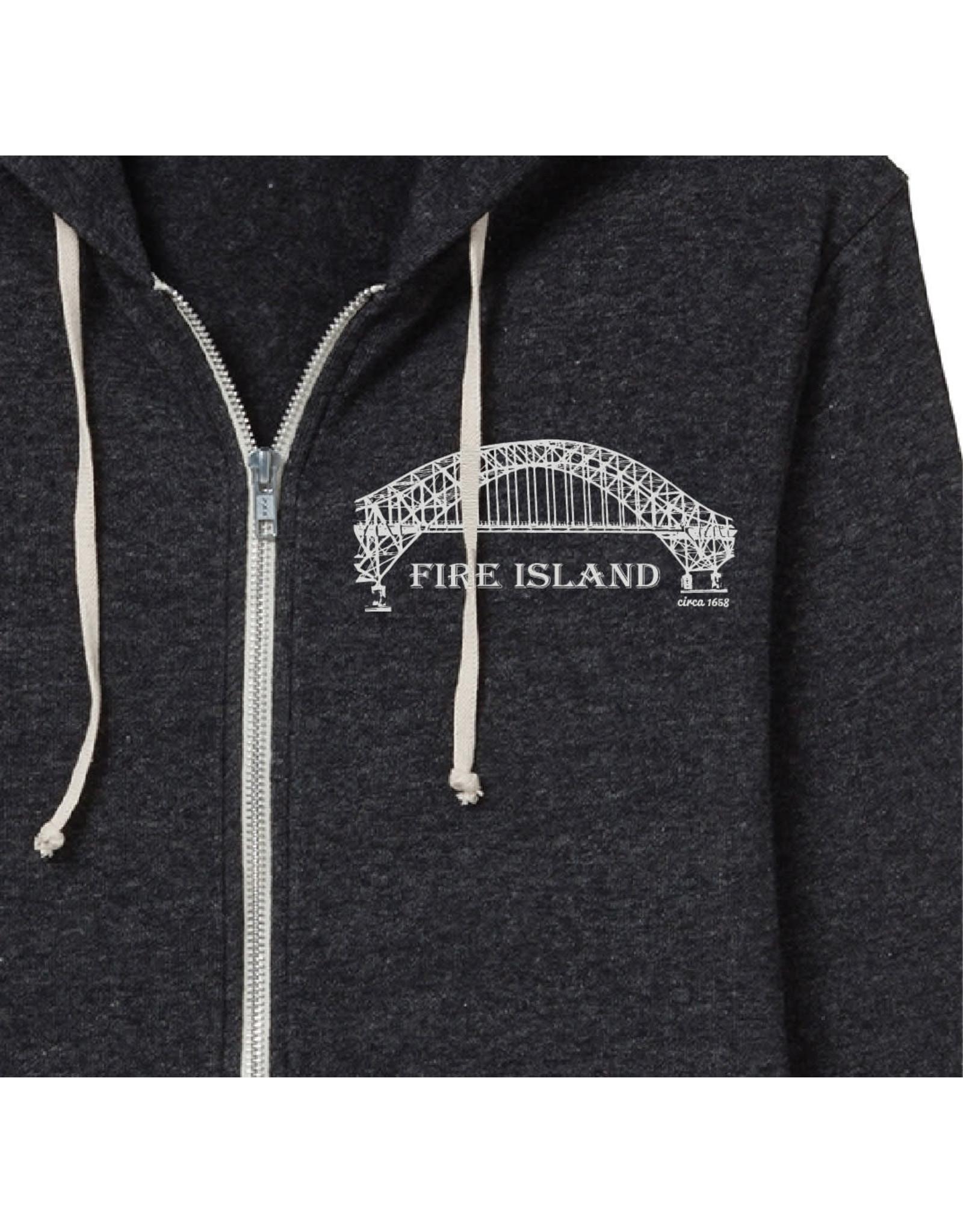 Alternative Apparal FI Bridge Zip Up Fleece Hoody
