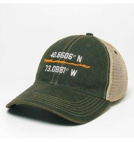 L2 Brands Latitude Longitude Green Trucker