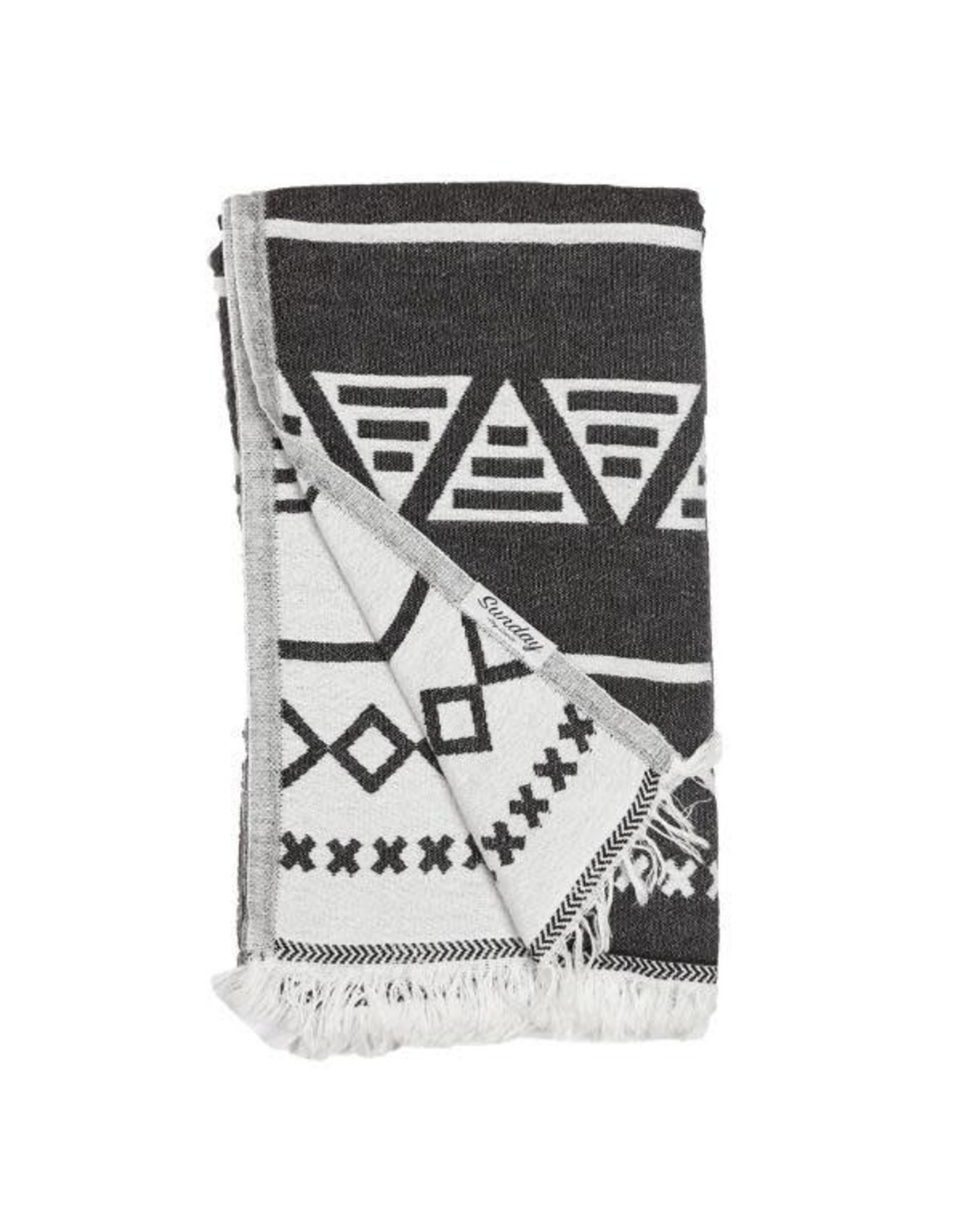 Sunday Dry Goods Personal Size Double Faced Aztec Towel 95 x 170 Cotton