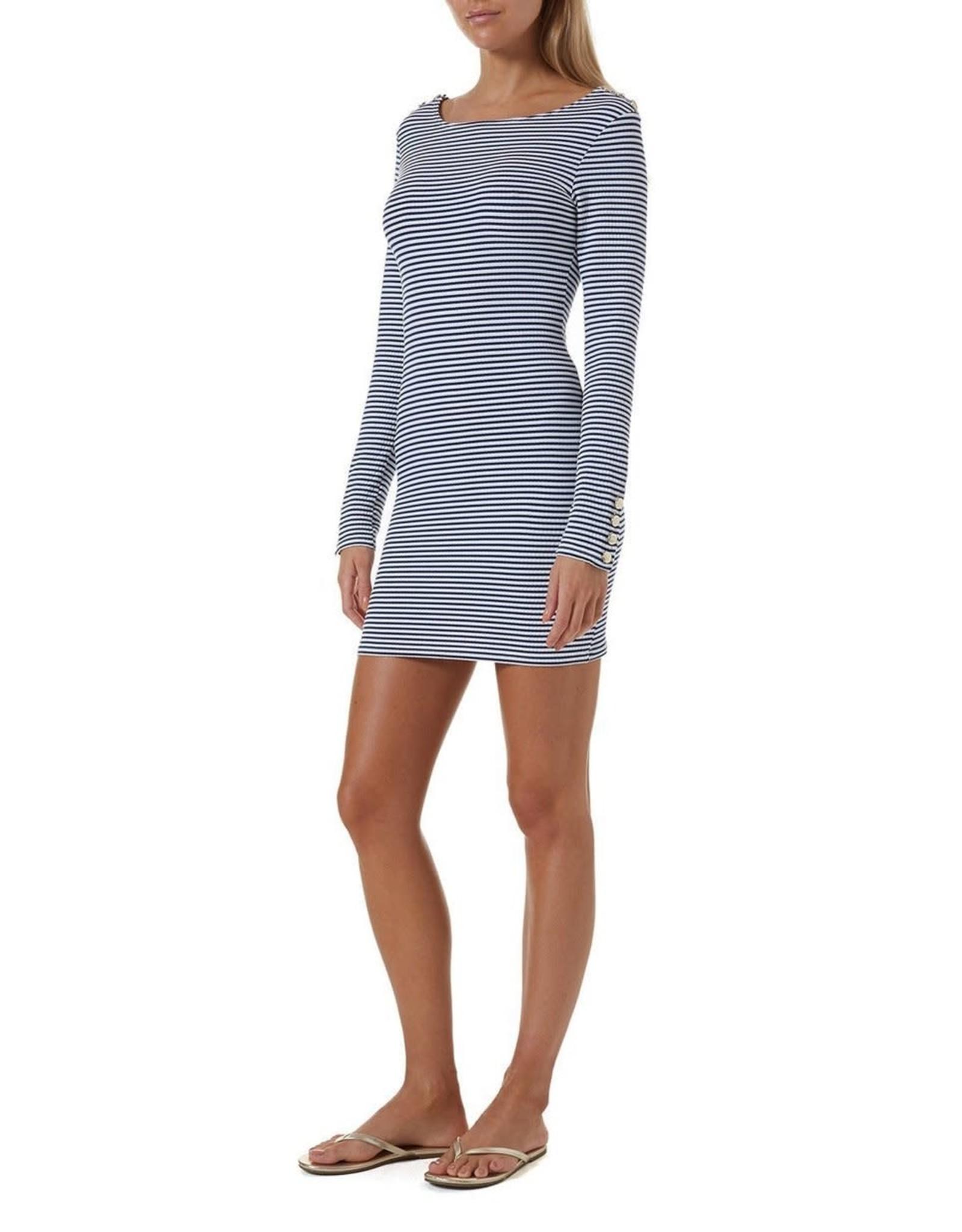 Melissa Odabash Agata Nautical Short Dress