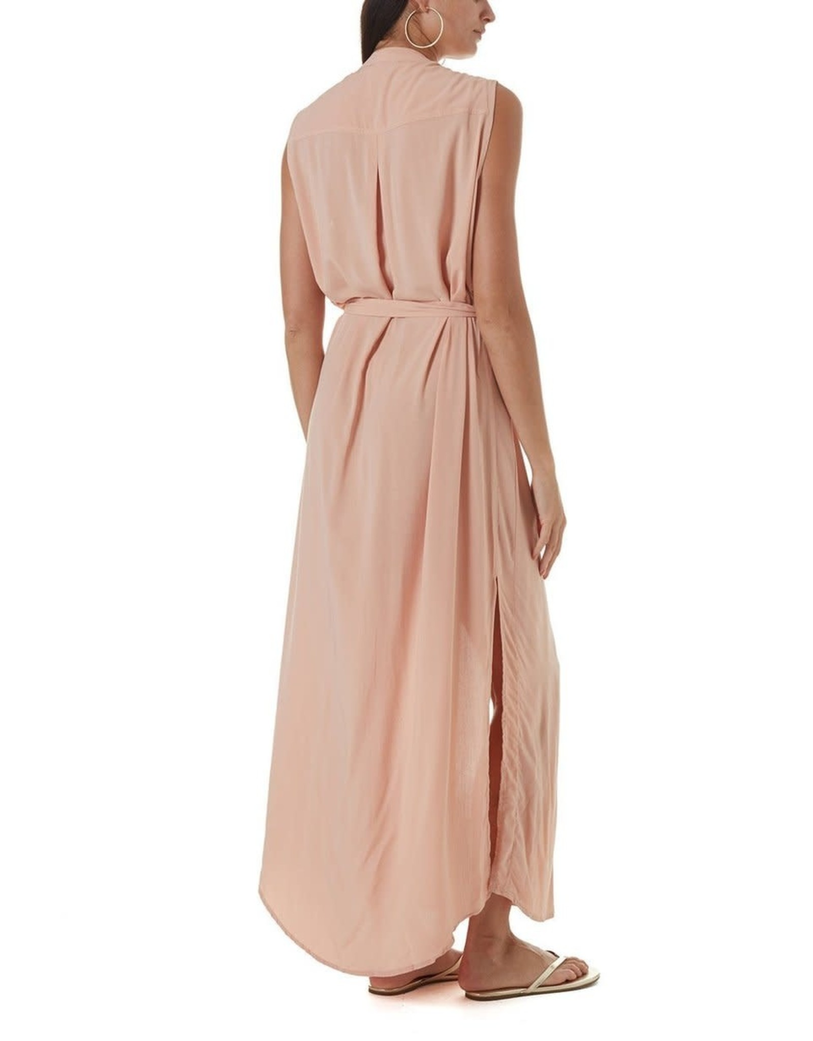 Melissa Odabash Charlene Short Sleeved Long Dress