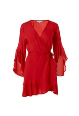 Melissa Odabash Kirsty Long Sleeved Short Dress