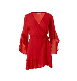 Melissa Odabash Kirsty Long Sleeved Short Dress