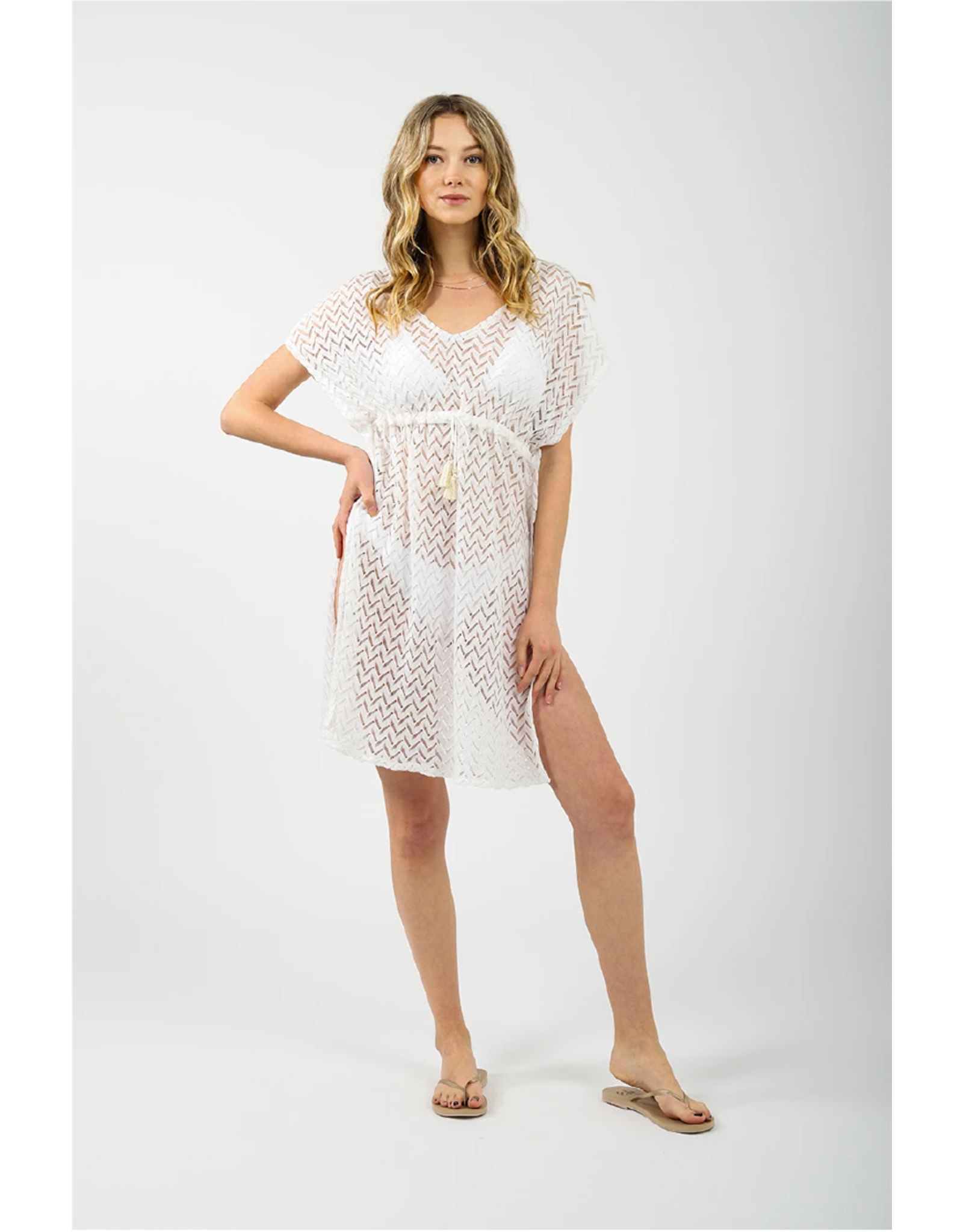 Koy Zuma Kaftan Dress W/Drawcord
