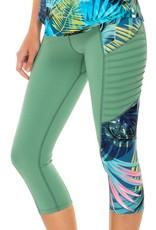 Luli Fama Mojito Pintucked Side Capri Legging
