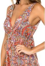 Luli Fama Andaluz V-Neck Short Dress