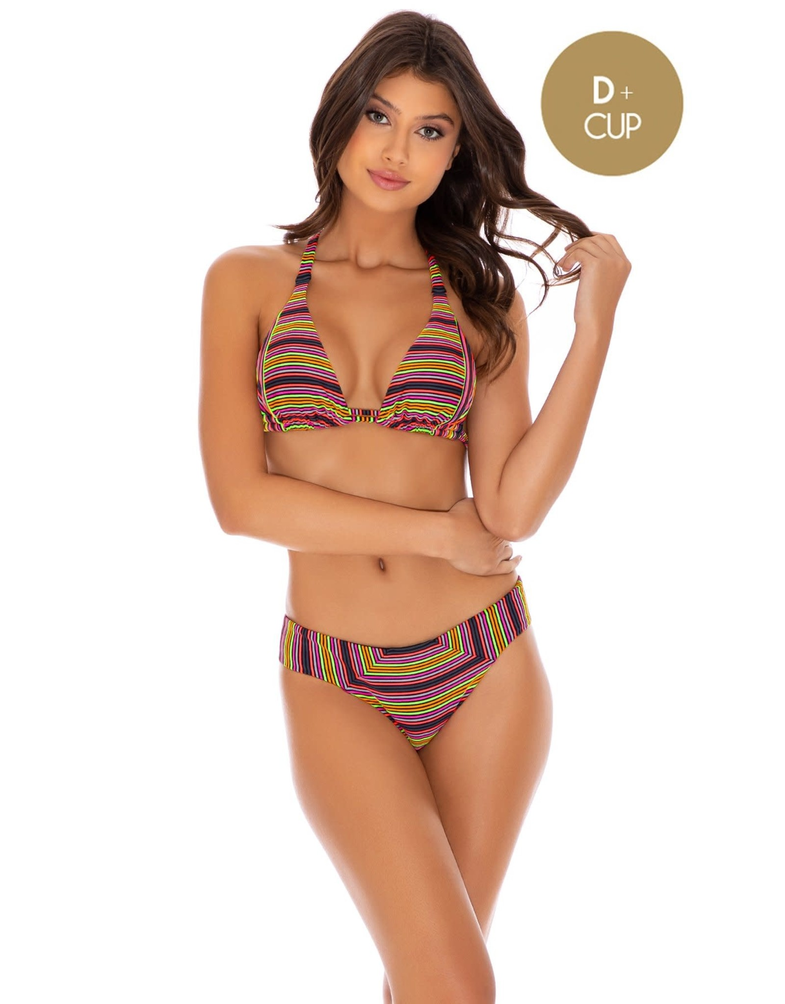 Luli Fama Jungle Glow Triangle Halter