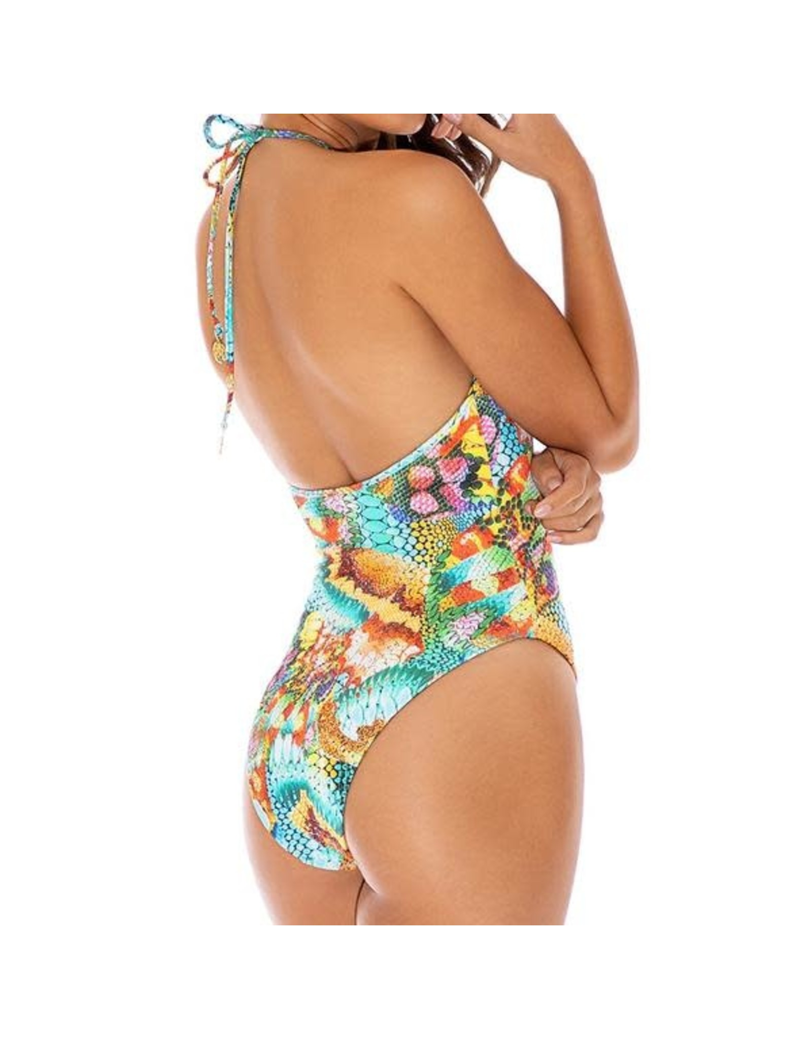 Luli Fama Just Wing It Tie Front 1 Piece