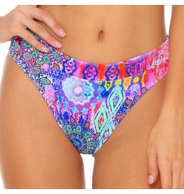 Luli Fama Pink Lagoon Banded High Waist Bottom