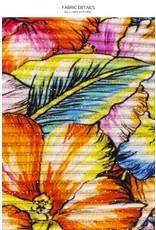 Luli Fama Wild Flower Ruffle Triangle Halter