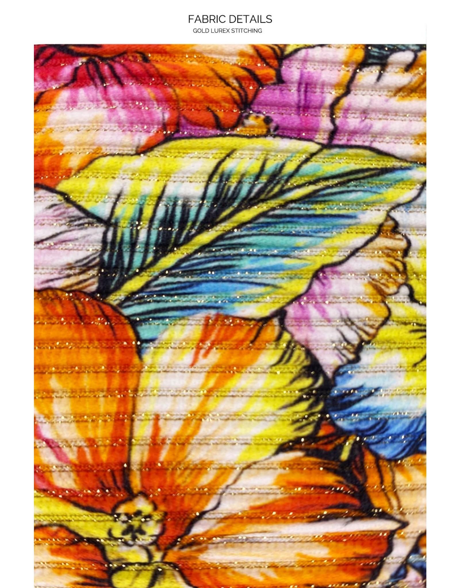 Luli Fama Wild Flower Ruffle Drawstring Side Bottom