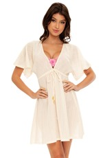 Luli Fama Bloom Deep-V Short Tunic