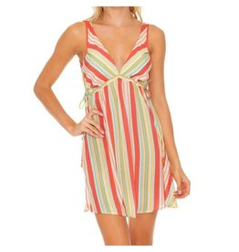 Luli Fama Play Time V-Neck Short Dress